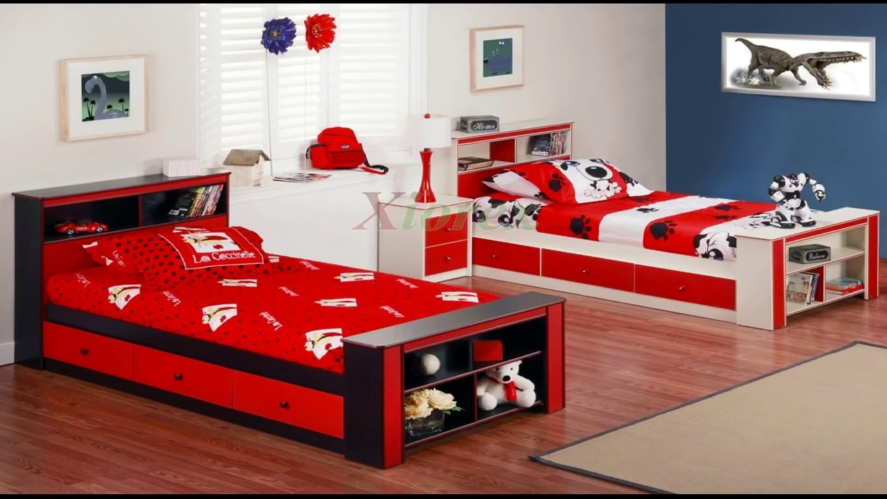 exciting twin boys bedroom ideas | Awesome Twin Bedroom Design Ideas with Double Bed for Boys ...