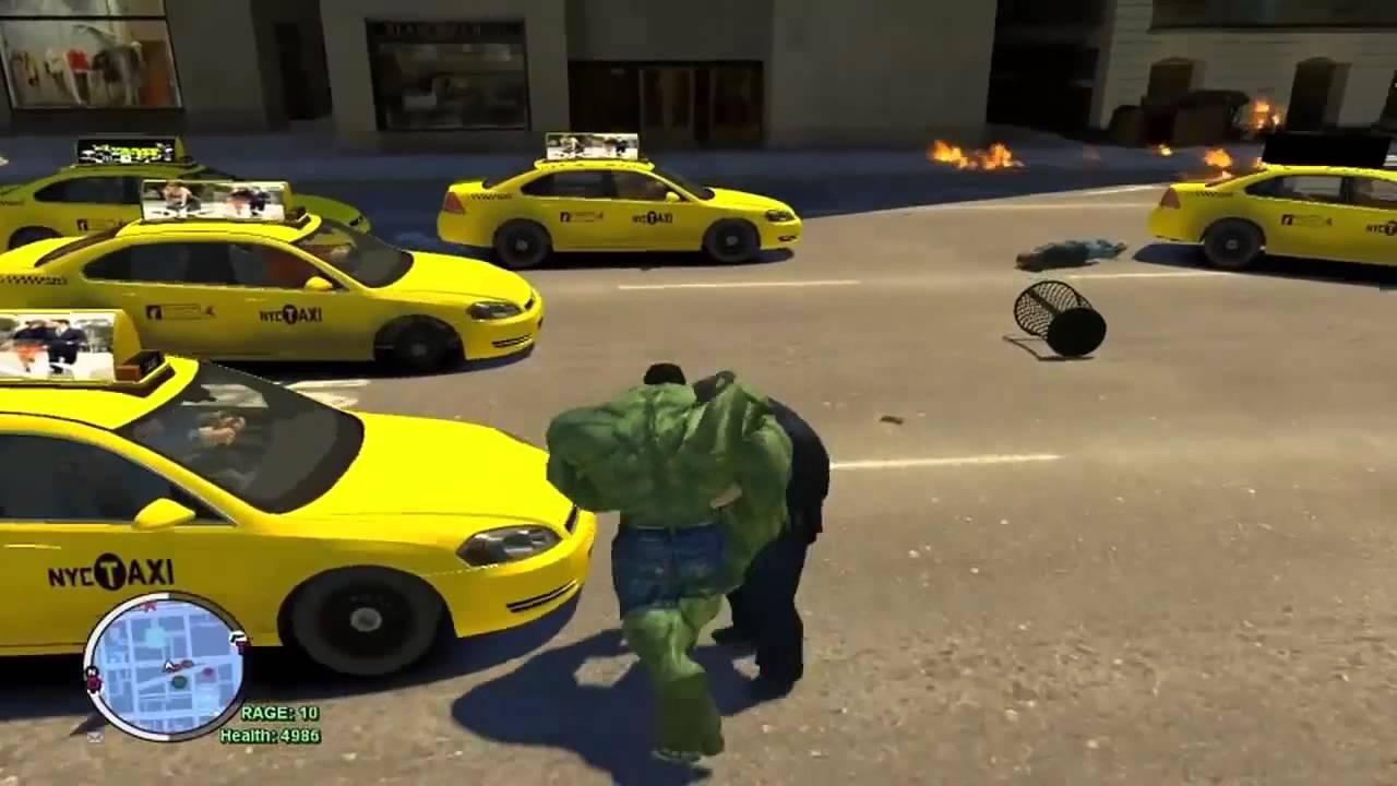 GTA IV - The Incredible Hulk [Hulk MOD VS Hulk Enemy]