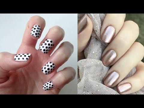 How To Polish Nails At Home Simple Nail Art Tutorial 7