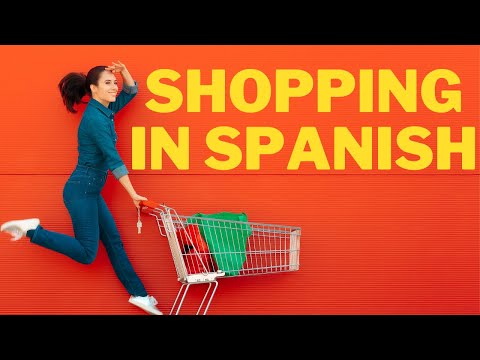 food shopping in a spanish supermarket