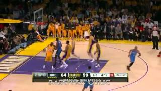 NBA OKC Thunder Vs LA Lakers Game 3 Highlights - Playoffs 2012 (2-1)