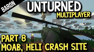 Unturned Military Loot, MOAB Incident, and Helicopter Crash Site - Multiplayer Gameplay 8