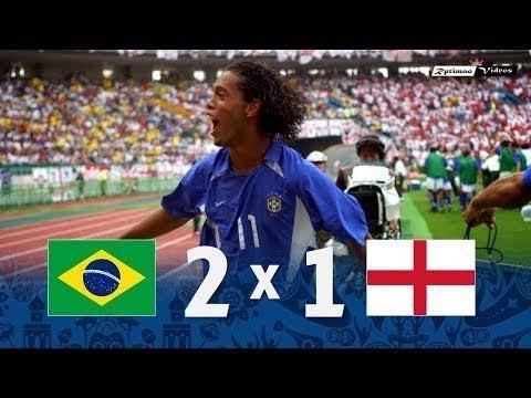 🔥 Бразилия - Англия 2-1 - Обзор Матча Четвертьфинала Чемпионата Мира 21/06/2002 HD 🔥