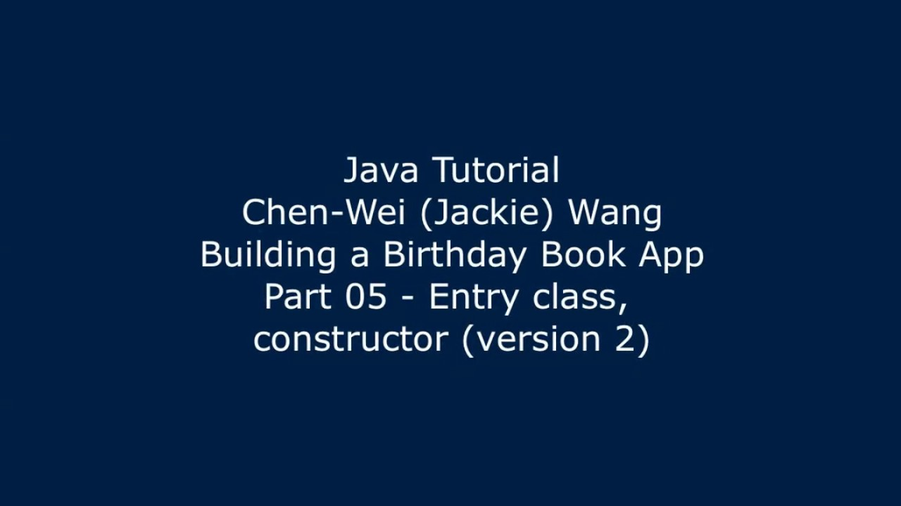 Java tutorial birthday book app 05 youtube java tutorial birthday book app 05 baditri Image collections
