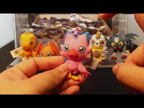 Digimon 3D Foam Key Ring Collection in Blind Bags