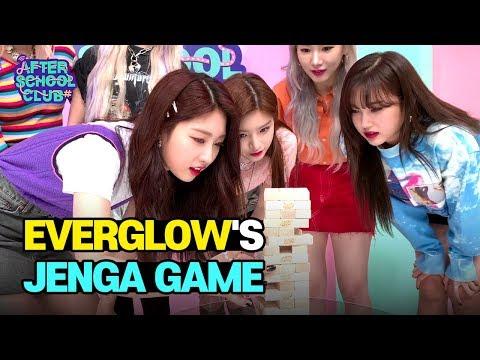 AFTER SCHOOL CLUB EVERGLOW&39;s Jenga Game 에버글로우의 젠가 게임