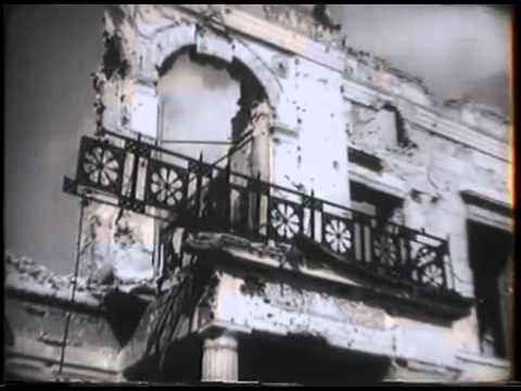 Destroyed Reich Chancellery of Hitler in Berlin, during visit of United States Pr...HD Stock Footage