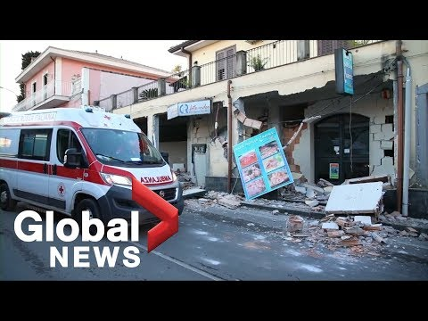 Rubble lines streets of Italian towns after Mount Etna triggers earthquake