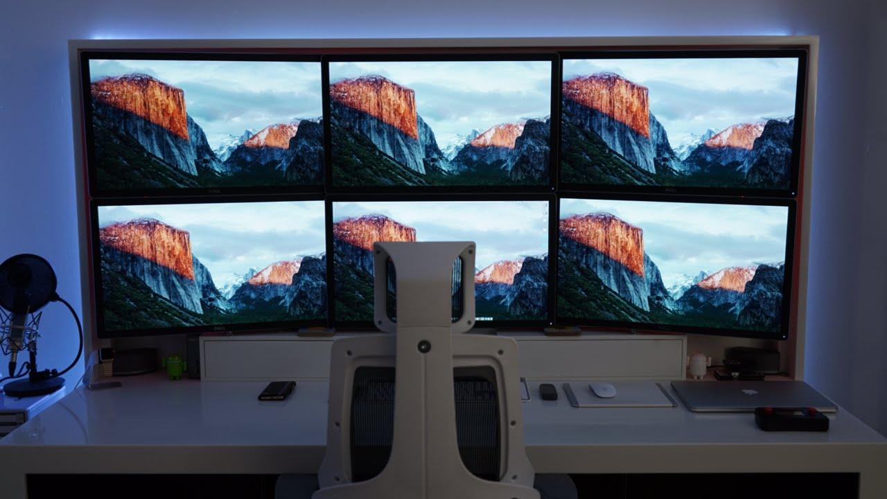 Six 4K Screens On A Mac Pro - 50,000,000 Pixels! - YouTube