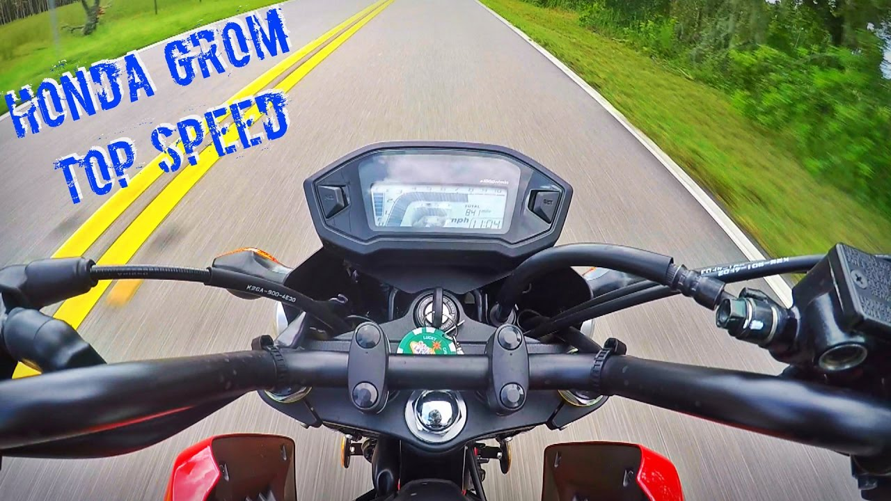 Honda Grom Top Speed! - YouTube