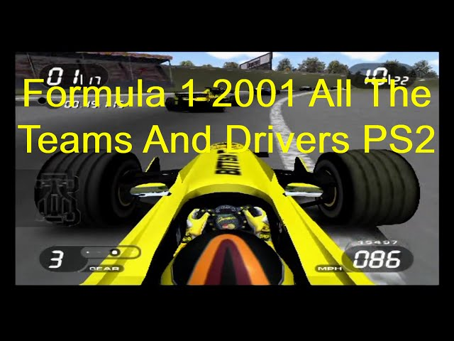 Formula 1 2001 All The Drivers Teams And Tracks PS2