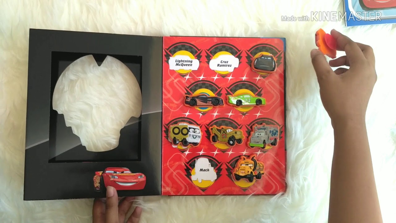 Board Game Cars 3 Stuck on Stories 10 Toy Suction Cups Storybook