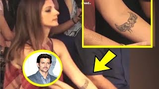 Sussanne Khan Flaunts Her Tattoo Name
