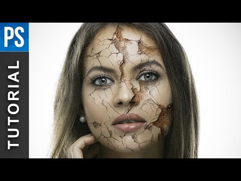 How To Create Realistic Cracked Skin Using Photoshop