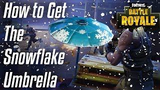 Fortnite - How to get The Snowflake Umbrella