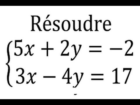 Résoudre Un Système D'équations Avec La Méthode Par Combinaison Linéaire - 2nde