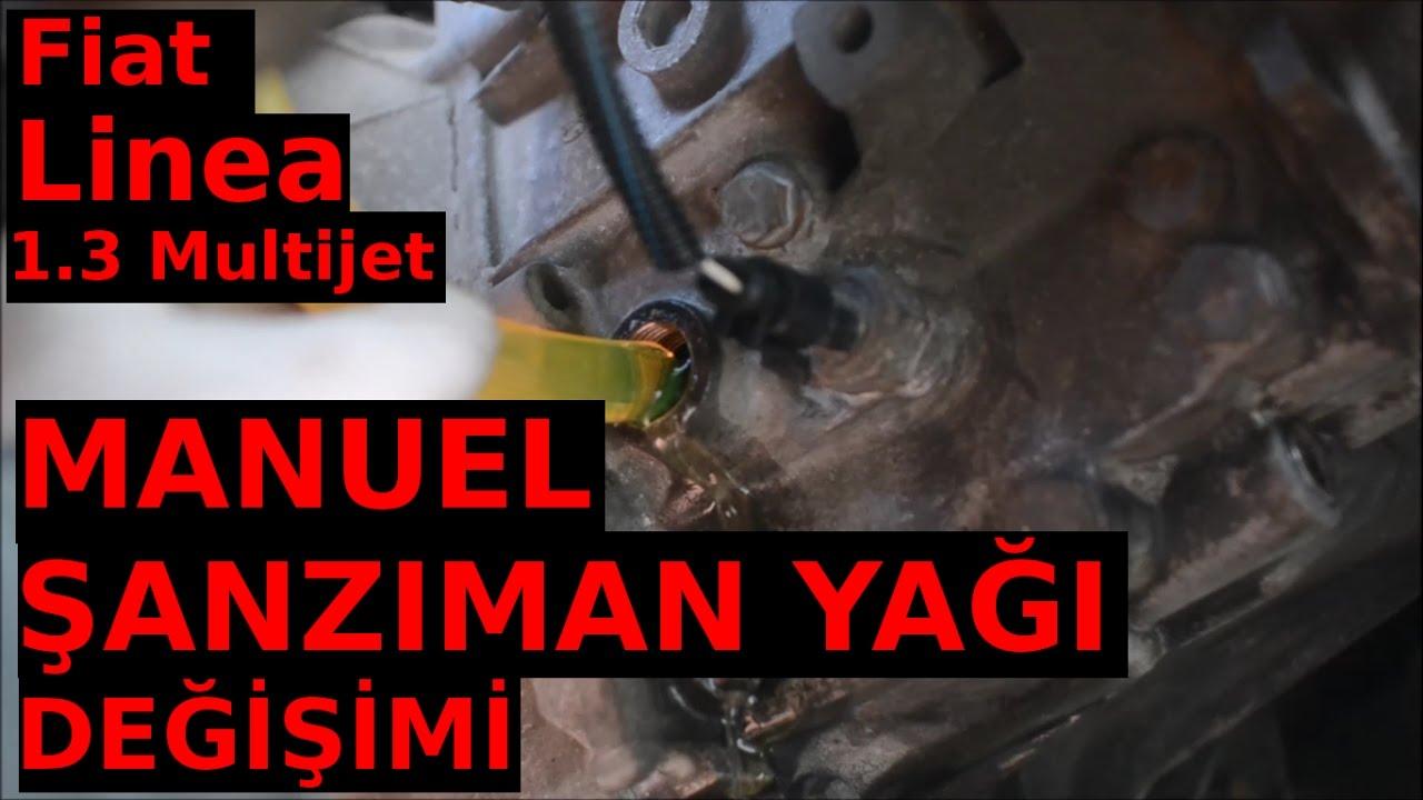 fiat linea 1.3 multijet manuel Şanzıman yağı değişimi - youtube