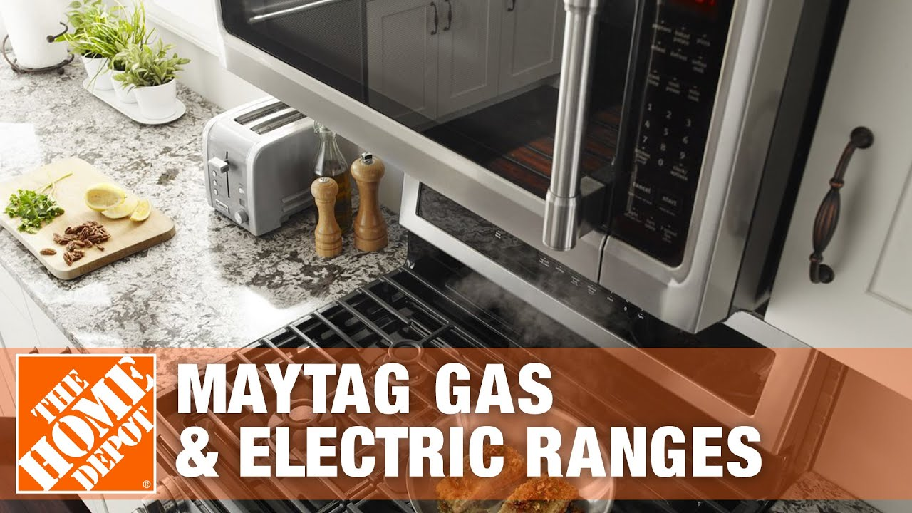 Maytag Gas Electric Ranges The Home Depot Youtube