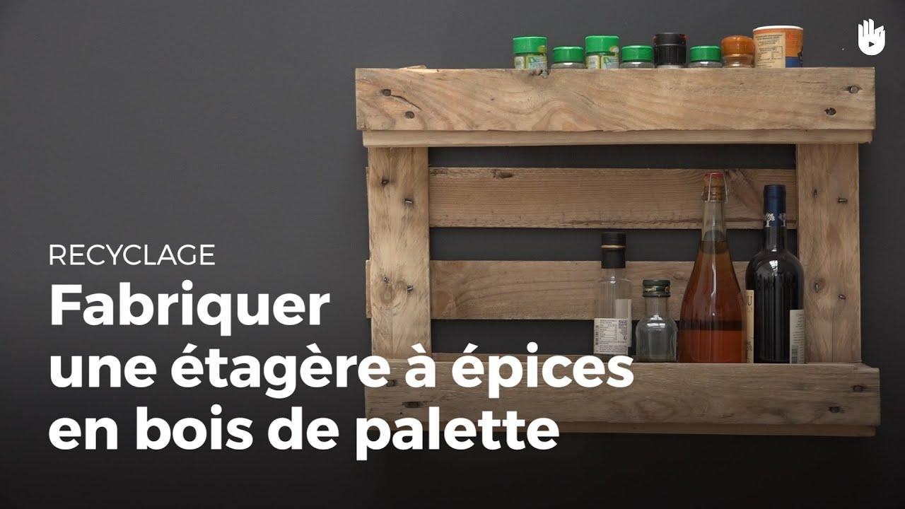 fabriquer une etagere a epices en bois de palette recycler
