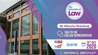 Live Session : Live Chat Mr. Hitanshu Bhardwaj, University of Law, UK
