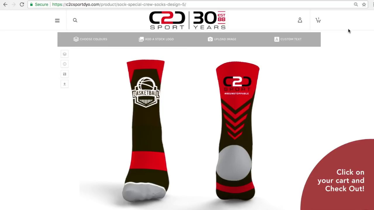 SOCKS SPECIAL | Create your own socks with C2C Sport DYO