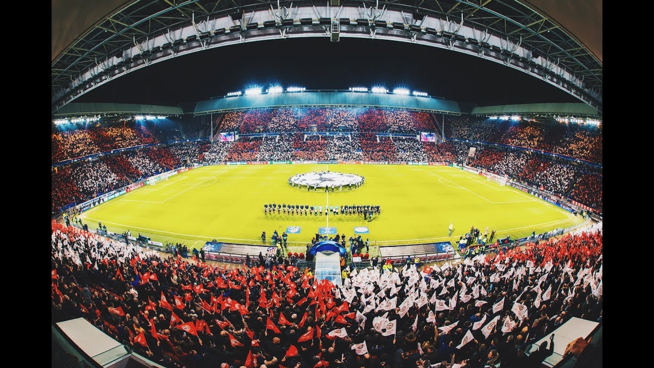 PSV Eindhoven Greatest Champions League Atmosphere - YouTube
