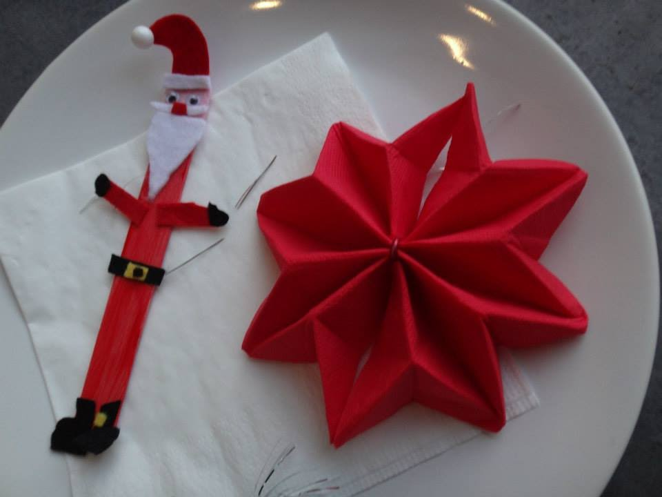 No l pliage de serviette toile de no l youtube - Comment faire une etoile de noel en origami ...