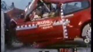 Honda Civic old model crash test (DEATH TRAP)