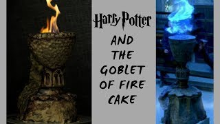 CAKE ON FIRE HARRY POTTER AND THE GOBLET OF FIRE CAKE TUTORIAL INTHEKITCHENWITHELISA