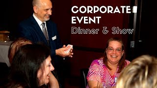Corporate Event Ideas | Dinner & Show | Find out why I should stick to magic!
