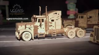 Ugears Heavy Boy Truck and Trailer VM-03 Models