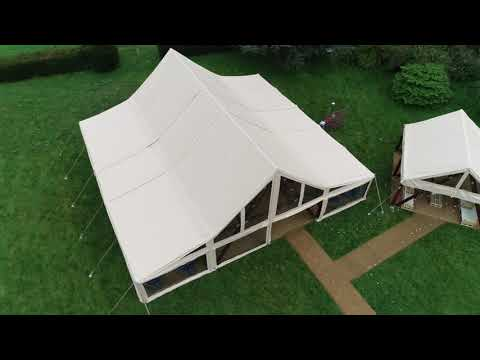 Abbas Marquees - The Cruck Tent, a brand new structure from our sister company.
