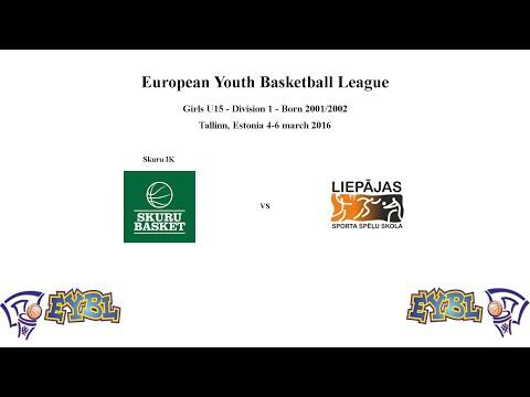 Skuru Basket (Sweden) vs Liepājas Sporta Spēļu skola (Latvia) - EGBL - 2016-03-05