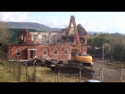 The demolition of the Old Whiteabbey Masonic Hall.