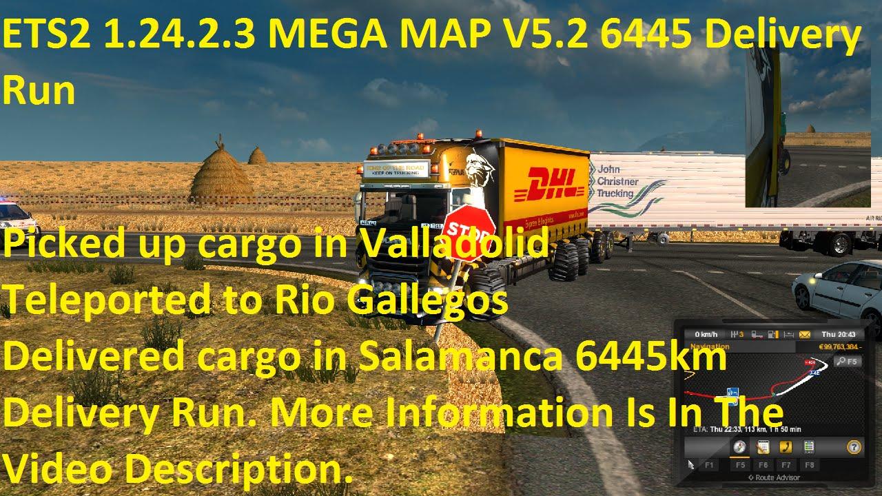 ETS MEGA MAP V Km Delivery Run YouTube - Argentina map ets2