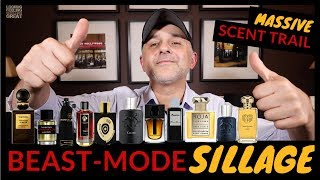 Top 20 Fragrances With BEAST-MODE SILLAGE | Fragrances That Leave A Massive Scent Trail