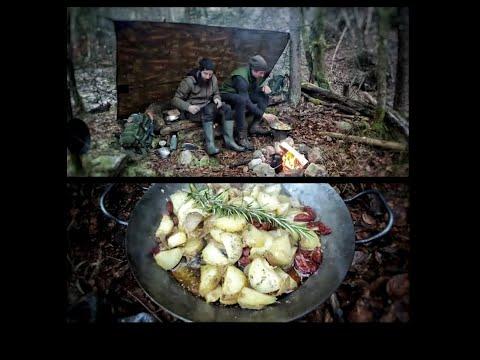 Bergwaldlagern | Bushcraftcamp | Kochen am Lagerfeuer | Danke für 1.000 Abos