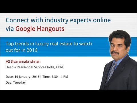 Hangouts with AS Sivaramakrishnan, Head – Residential Services India, CBRE