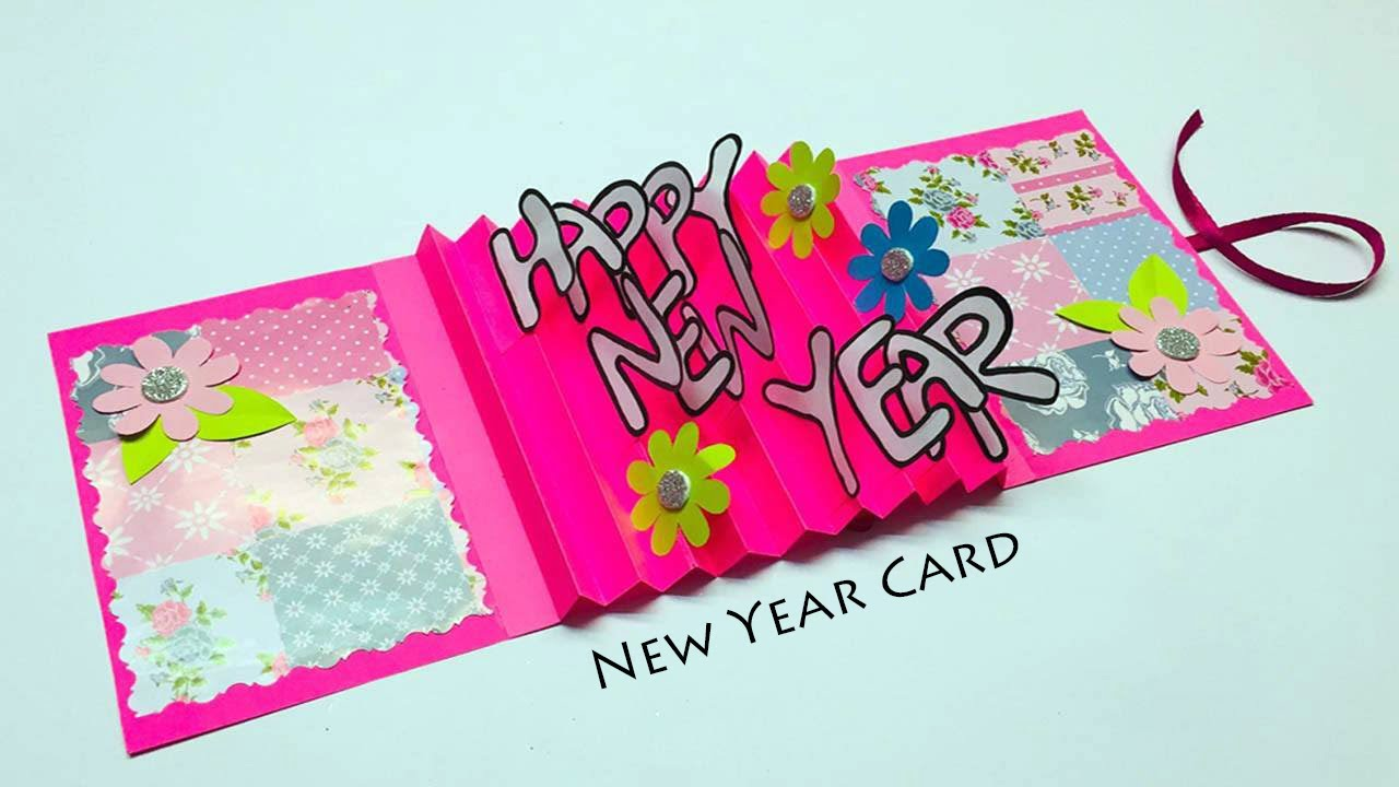greeting cards latest design handmade happy new year card design 2019 youtube