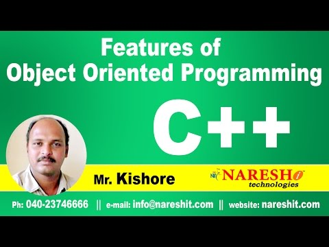 Features Of Object Oriented Programming Part 2 | C ++ Tutorial | Mr. Kishore