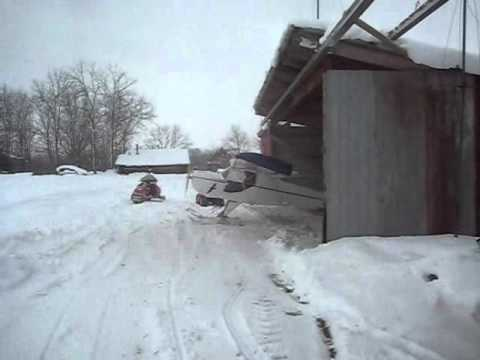 Kitfox -raven First time on skis in DEEP powder
