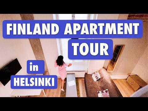 €600 Finnish Apartment Tour in City Center  Helsinki, Finland