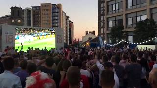 England go through to the quarter finals - see the reaction in Newcastle!
