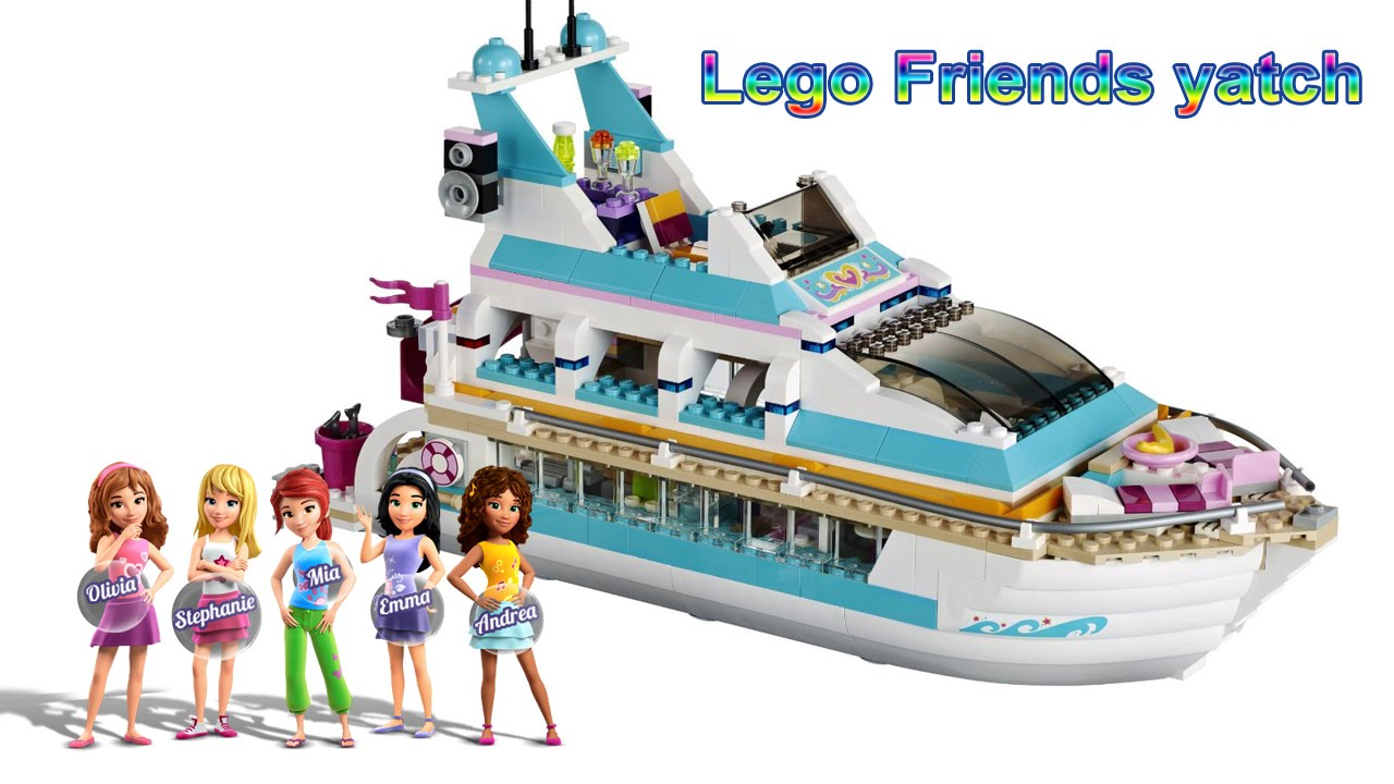 lego friends yacht stop motion animation dolphin cruiser 41015 youtube. Black Bedroom Furniture Sets. Home Design Ideas