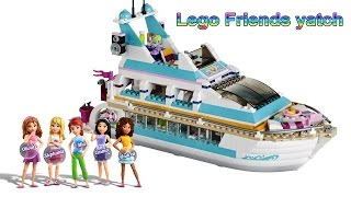 Lego Friends Yacht Stop Motion Animation, Dolphin Cruiser 41015