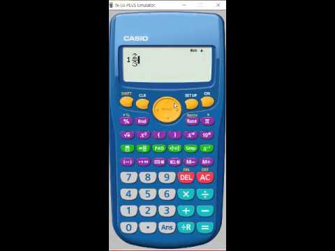 fx 55 plus how to multiply fraction times whole number youtube rh youtube com Casio FX-55 Fraction Mate Calculator Casio FX 55