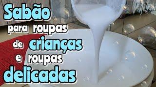 15 Litros de sabão Liquido Para Roupas Delicadas e de Crianças