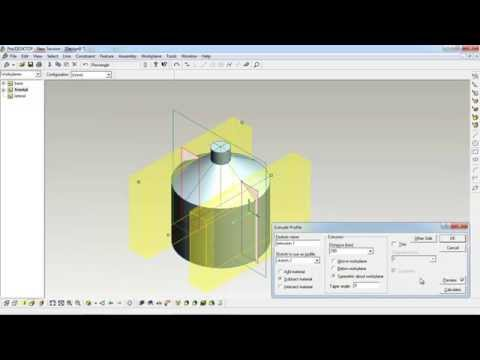 บทที่ 3 การสร้างชิ้นงานในลักษณะรูปทรงแกลลอน พร้อมที่จับแบบเจาะ ด้วยโปรแกรม ProDesktop (9/12)