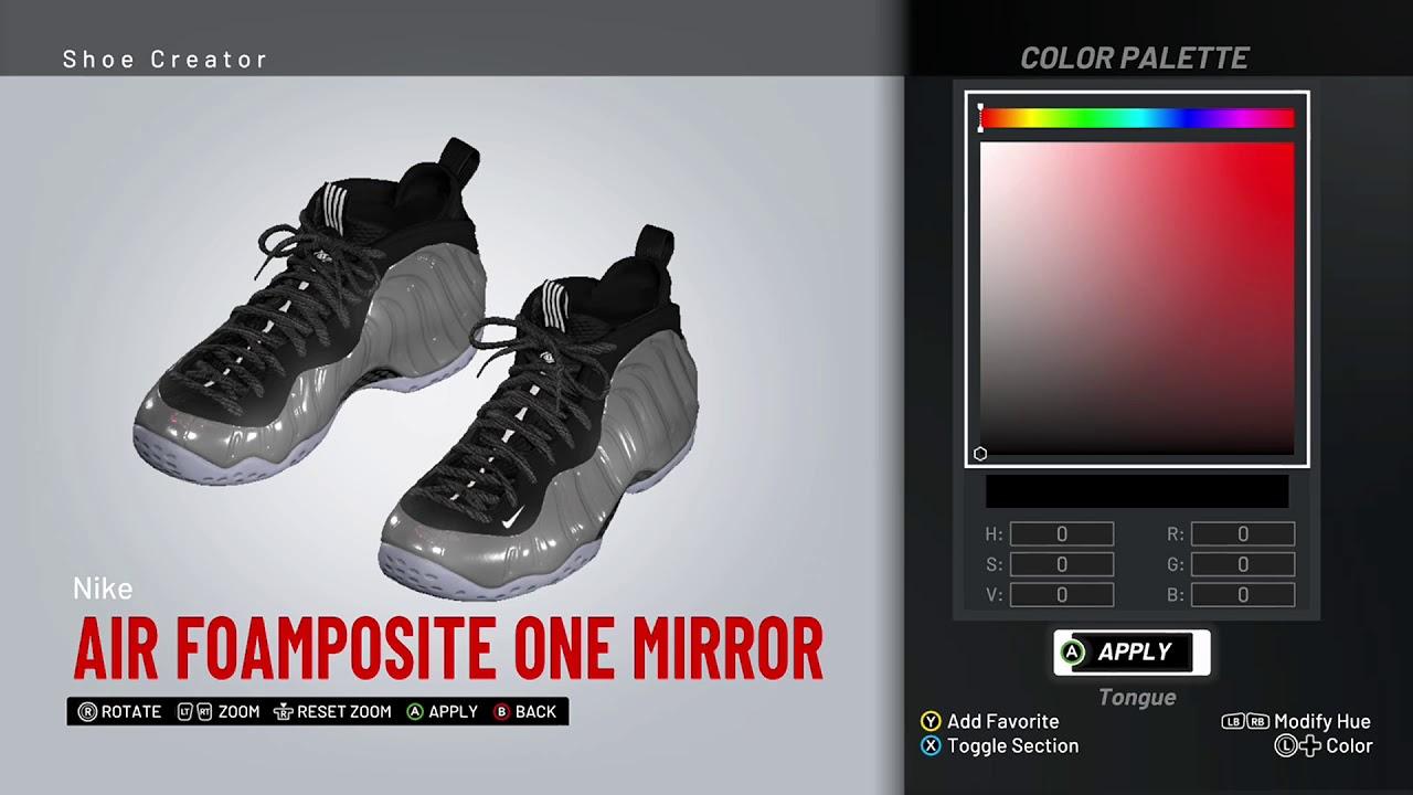 175fe5e444f NBA 2K19 Shoe Creator - Nike Foamposite One