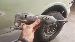 I did a tool review a while ago for this Dremel scraping up vinyl t...